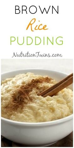 Sep 2019 - Brown Rice Pudding We actually remember the very first time we had pudding as seven year old excited girls! Creamy, sweet pudding truly hits the spot! For some reason, pudding wasn't a dessert our mom… Brown Rice Recipes, Rice Recipes For Dinner, Healthy Brown Rice Pudding Recipe, Poutine, Clean Eating Snacks, Healthy Eating, Nutrition Tips, Fitness Nutrition, Fitness Tips