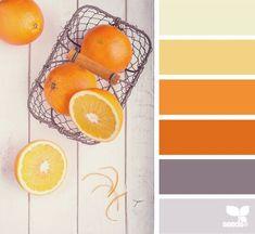 Ideas For Kitchen Colors Schemes Orange Design Seeds Kitchen Colour Schemes, Kitchen Colors, Kitchen Ideas, Room Kitchen, Kitchen Design, Design Seeds, Couleur Feng Shui, Orange Color Palettes, Orange Palette