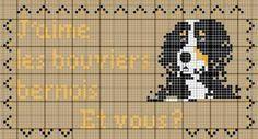 chien - dog - bouvier bernois - point de croix - cross stitch - Blog : http://broderiemimie44.canalblog.com/