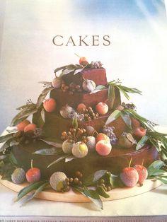 Sugared Fruit Fall Wedding Cake