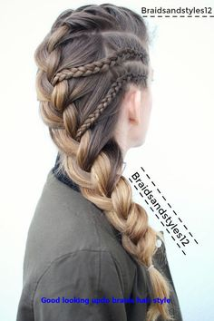 10 simple stylish braided hairstyles for long hair - inspired creative braided hairstyle idea. 10 simple stylish braided hairstyles for long hair - inspired creative braided hairstyle ideas - madame hairstyles Box Braids Hairstyles, Baddie Hairstyles, Updos Hairstyle, Hairstyle Ideas, Funky Hairstyles, Creative Hairstyles, Woman Hairstyles, French Hairstyles, Wedding Hairstyles