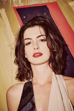 "Anne Hathaway Shows Off The 8 Designers Who Are Flipping The ""Pretty"" Script #refinery29 http://www.refinery29.com/anne-hathaway-fashion-shoot#slide-5 Maison Margiela Dress...."