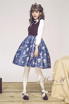 ed1be8b93445 Marie A 2016*Balloon Journey~ Sweet Lolita Vest Jumper Dress -Pre-order