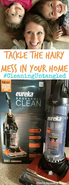 Tackle Hairy Messes in Your Home #ad #CleaningUntangled #EurekaPower