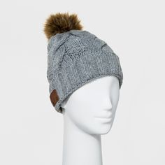 e75adcfce68 Accessory Innovations Bluetooth gray fleeced lined beanie with faux fur pom  is ideal for all cold weather conditions. You can listen to your favorite  songs ...
