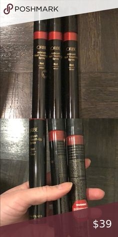 3 airbrush root touch up oribe Red Three brand new root touch up sprays for red heads by Oribe. Quantity of 3 sold as a lot oribe Makeup Root Touch Up Spray, Cover Gray, Red Heads, Sprays, Airbrush, Makeup, Closet, Things To Sell, Maquillaje