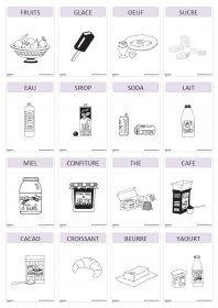 Imagier thématique : les aliments Un imagier thématique proposant 82 cartes et affiches avec les aliments.