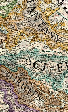 A 17-Year-Old Artist Created This Incredible Map Of Literature