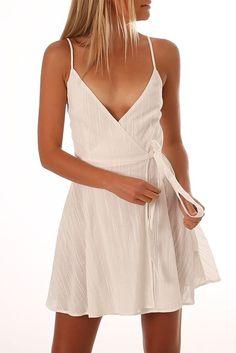 Ava Wrap Dress White