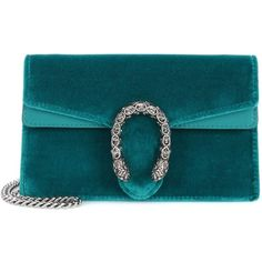 Gucci Dionysus Velvet and Leather Clutch (€615) ❤ liked on Polyvore featuring bags, handbags, clutches, blue, shoulder bags, leather clutches, leather handbags, real leather handbags, blue leather purse and blue leather handbags