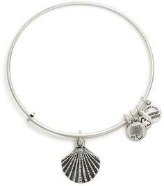 Alex and Ani Sea Shell Charm Bangle (Silver)