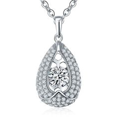 High Quality Silver 925 Sterling Fashion Necklace&Pendant Women YL Jewelry Wholesale with AAA CZ with Dancing stone Anniversary