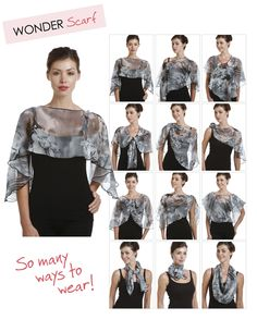 So many ways to wear our Wonder Scarf!