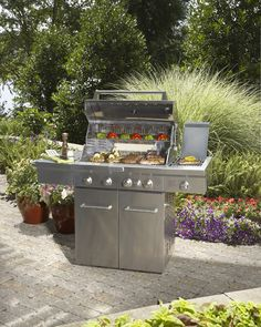 Grill out in style this spring with a KitchenAid 4 burner all gas grill.