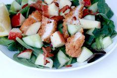 Crispy Chicken Apple Salad with Bacon