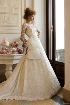 jillian sposa 2013 illusion long sleeve wedding dress