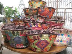 Hand-embroidered Moroccan bags