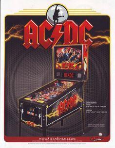 AC/DC By STERN 2012 ORIGINAL NOS PINBALL MACHINE SALES FLYER #acdc #sternpinball