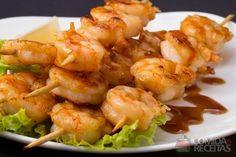 Receita de Espetinho de camarão saboroso em receitas de crustaceos, veja essa e outras receitas aqui!