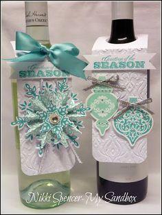 my sandbox: Festive flurry & Ornament wine tags....