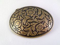 1 1/2 inch 38mm Trophy Style Western Belt Buckle, Small Bronze Finish Floral and Fern, Boho Southwestern Country Western Wear, ID 281222978 by LaBelleBelts on Etsy