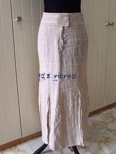 Re-fashion di una gonna in lino dalla linea a sirena in una svasata - fai da te 123ricreo