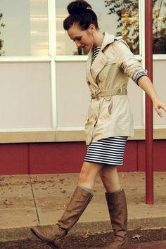 Zipper-target-boots-striped-target-dress-trench-coat-gap-jacket