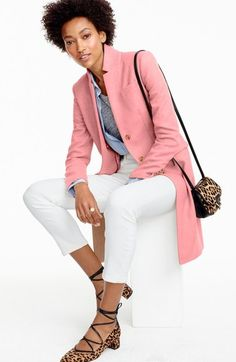 J.Crew 'Regent' Wool Long Topcoat available at #Nordstrom