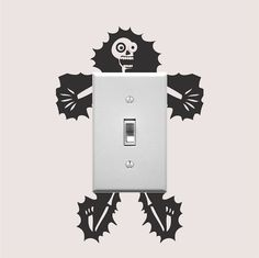 Electrocuted Guy Outlet Decal Sticker, Funny Wall Decal, Light Switch Art, Outlet Sticker, Cartoon E Electrocuted Guy Outlet Aufkleber Sticker Funny von TrendyWallDesigns