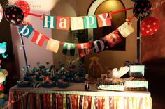 Candy Land Gifts Table Decorations