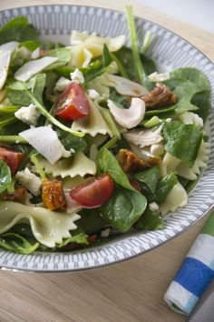 Pastasalad with Spinach - Brenda Kookt