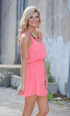 Double Duty Dress in Coral