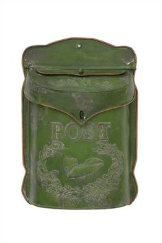 DETAILS Add some vintage-inspired character to your entryway, home office, or living room with this beautiful box. This stunning Postmarked Box is handsomely made from green-finished tin. Designed in