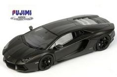 TRUE SCALE MINIATURES TSM11FJ016 LAMBORGHINI AVENTADOR 2011 MATT BLACK 1:43 - Diecast Model Cars
