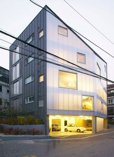 y-house' by wise architecture, seoul, korea  Translucent polycarbonate facade