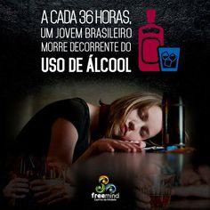 Um jovem morre vítima de álcool a cada 36 horas no Brasil! http://adependenciaquimica.blogspot.com.br/2015/03/um-jovem-morre-vitima-de-alcool-cada-36.html