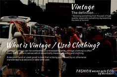 What is Vintage / Used Clothing