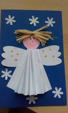 Angel crafts for kids Preschool Christmas, Christmas Crafts For Kids, Christmas Activities, Xmas Crafts, Christmas Projects, Preschool Crafts, Winter Christmas, Kids Christmas, Christmas Decorations