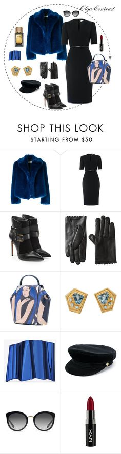 """09.10.2017"" by olgacontrast on Polyvore featuring мода, Dries Van Noten, Damsel in a Dress, Balmain, Onesixone, Yves Saint Laurent, Manokhi, Dolce&Gabbana и NYX"