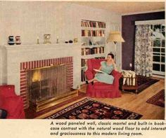 The living room is a 50s classic