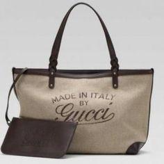fbf87e9e5e05 GUCCI CRAFT MEDIUM TOTE BAG 9 IN BEIGE LINEN  400.00 (AUTHENTIC) Hermes Bags