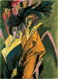 Ernst Ludwig Kirchner, Two Women on the Street, 1914