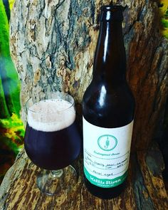 """From @kettleriverbrew in Kelowna comes their """"Dark Cherry Sour Saison"""". For the full review click on the link in my profile.   http://wp.me/p2vssO-ewf"""
