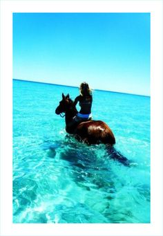 Horseback riding on the beach.  On my BFF's Bucket List.  Hope to do it with her.