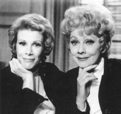 Joan Rivers and Lucille Ball .. RIP Joan!