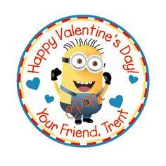 Valentine's Day Minion Tag by CustomParty4U on Etsy, $6.00