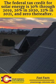 Solar Tax Credits 101 – Extension – Your Energy Colorado Tax Credits, United States Travel, Solar Energy, Problem Solving, Colorado, University, Education, Usa, Life