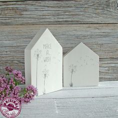 Deko-Objekte - Häuschen-Set aus Holz im skandinavischen Stil - ein Designerstück von Elfenwinkel bei DaWanda