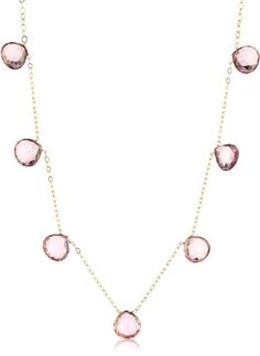 "Amanda Rudey ""Breakfast At Tiffany"" - Pink Topaz Gumdrop Necklace"