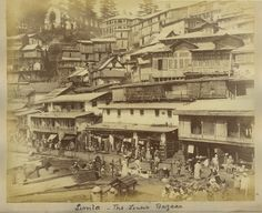 Annandale Playground at Simla       Church from the club       General View from Bonnie Moon Simla       Street and Lower Bazaar at ...